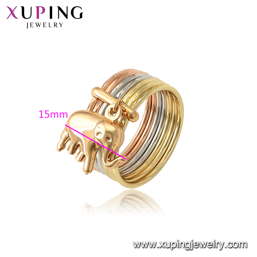 14077 15736 Xuping hot sale new design jewelry 18k gold plated lucky elephant ring