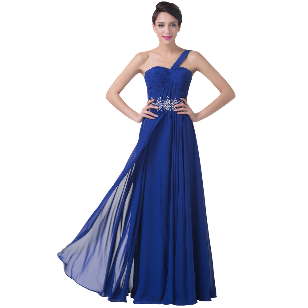Grace Karin Long Blue Prom Dress Sequin Abendkleider Vestido De Festa longo Special Occasion Dress Vestido De Baile CL6185