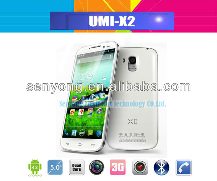 UMI X2 MTK6589 Quad Core 5 inch Dual Sim Card Phone 1920x1080 Pixel 2GB/32GB WCDMA Android 4.2 WiFi Bluetooth GPS