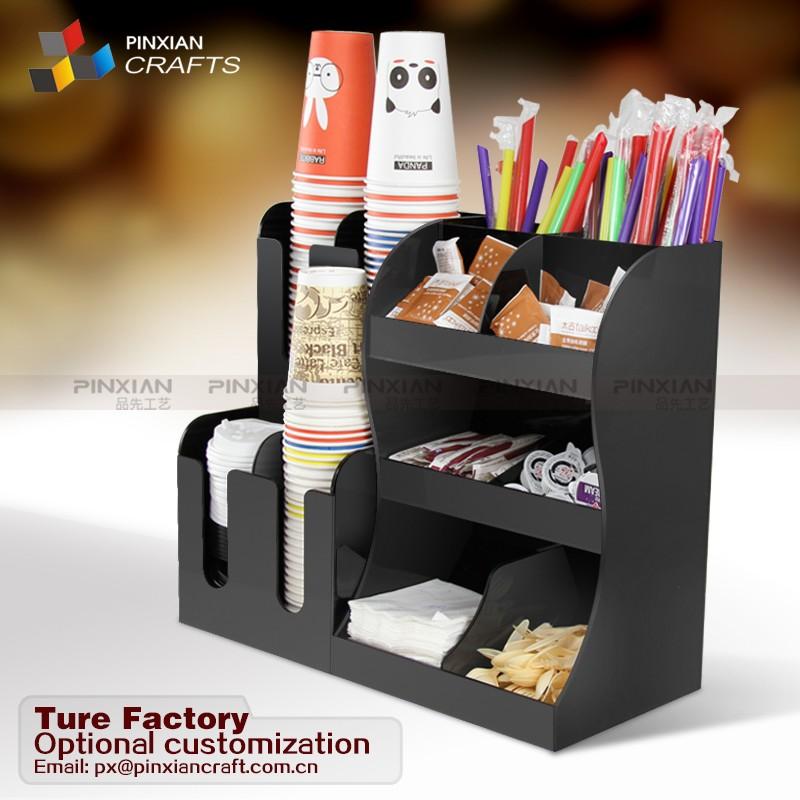 Schwarz Acryl Kaffee Wurze Organisieren Und Papier Tasse Halter