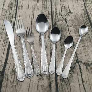 Free Sample China Factory Machine polish Stainless Steel Cutlery Set