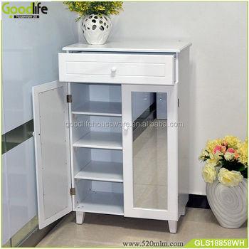 Goodlife Storage Mirror Shoe Cabinet Living Room Furniture Dubai