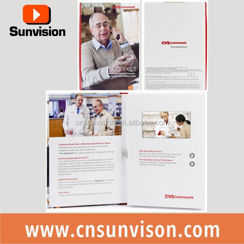 "Sunvision custom order 5"" promotional video card lcd video out graphic card tv & music video card flyer for acer"