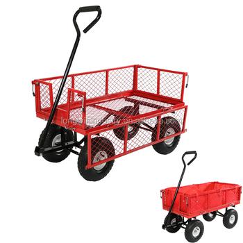 4 Wheel Beach Utility Mesh Garden Cart Wagon