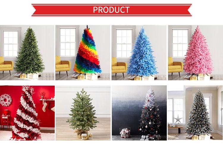 A buon mercato grande blu Giallo Nero e Rosso Rosa Pieghevole Decorato Elettrico HA CONDOTTO LA Luce di Plastica Tinsel Decorazione Dell'albero di Natale