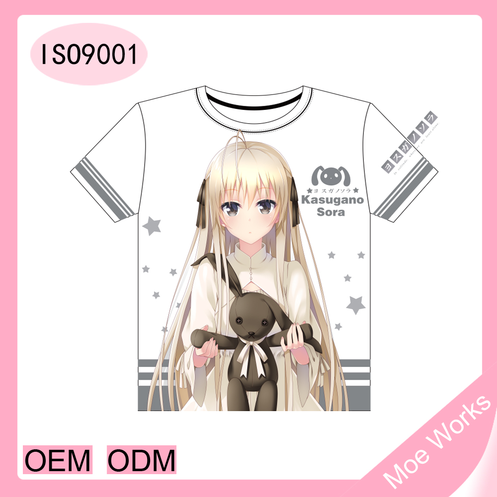 Kasugano Sora In solitude, where we are least alone anime t-shirt latest casual shirt designs