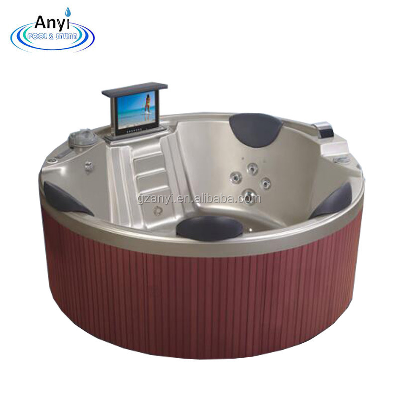 High Quality Whirlpool 4 person sex video japan massage Hydro Spa Round Hot Tub