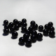 Solid black decorative glass marble ball for children