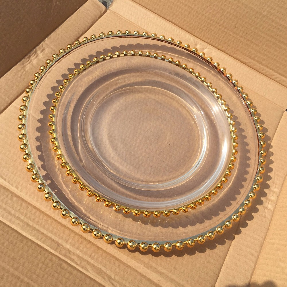 wholesale colored glass plates clear elegant charger plate alibaba