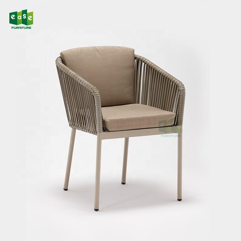 Stühle Tisch Im Freien Und Garten Terrasse Gesetzt Tische Möbel Restaurant Metall Aluminium Verwendet Mit Dining / Wicker Rattan Stuhl