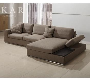 Wide Brown Floor Fabric Sofa Couch Design With Teapoy - Buy Sofa Couch  Design With Teapoy,Brown Fabric Sofa,Simple Style Fabric Sofa Design  Product on ...