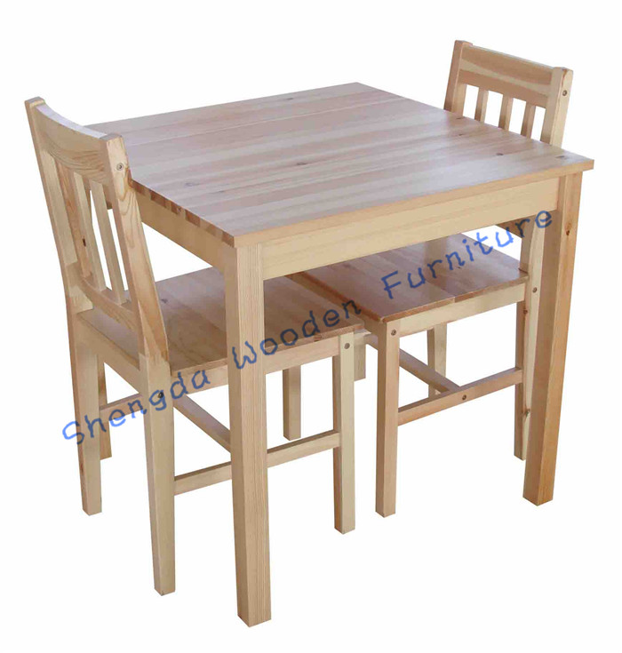 SD-2802 Hotel Furnirure Restaurant solid wood Dining Table and 2 Chair