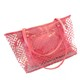 Cheap Transparent High Quality Summer Ladies Jelly Tote Top Handle PVC Beach Handbags