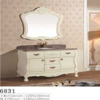 Classical waterproof luxury french antique bathroom furniture