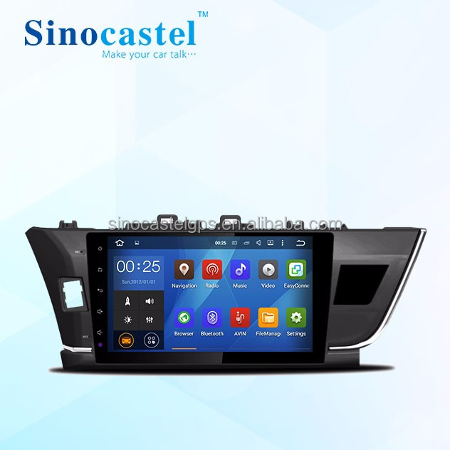 Car DVD GPS WiFi 2 Din 10.1 Inch Android 5.1.1 System For <strong>Toyota</strong> <strong>Corolla</strong> 2014 Left-Hand Drive Version
