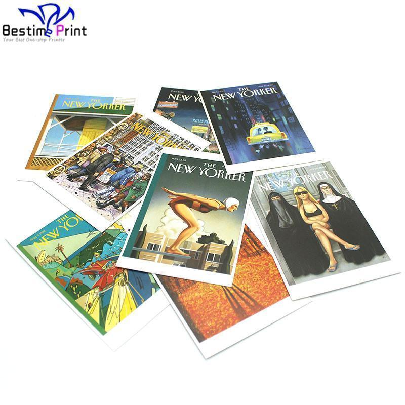 Offset di Colore completo Stampato digitale biglietto di auguri personalizzato cartoline in basso prezzo