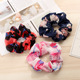 Wholesale Custom Printed Women Hair Accessories Fabric Chiffon Elastic Hair Band Colorful Flower Hair Tie Scrunchies