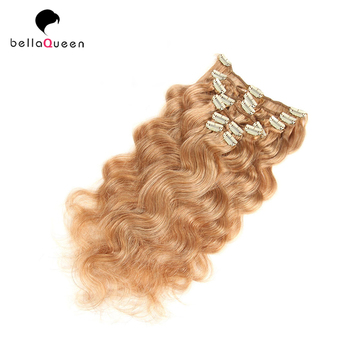 Wholesale Blond Seamless Clip In Hair Extension Fashionable And Convenient Easy Clip Hair Pieces For White Women