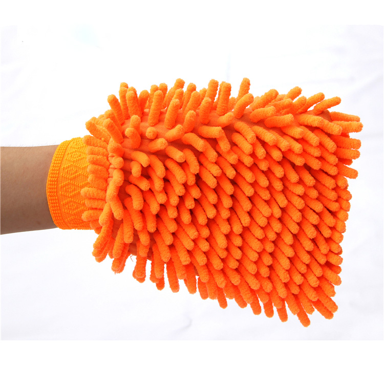 Multi Purpose Chenille microfiber car wash glove/car cleaning mitt wipes
