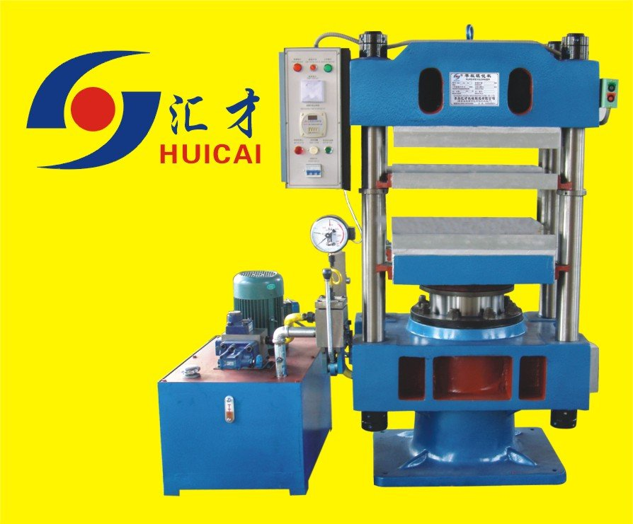 High Quality 4 Post Fine Steel Made 100 Ton Plate Rubber Vulcanizing Press - Rubber Making Machine Manufacturer