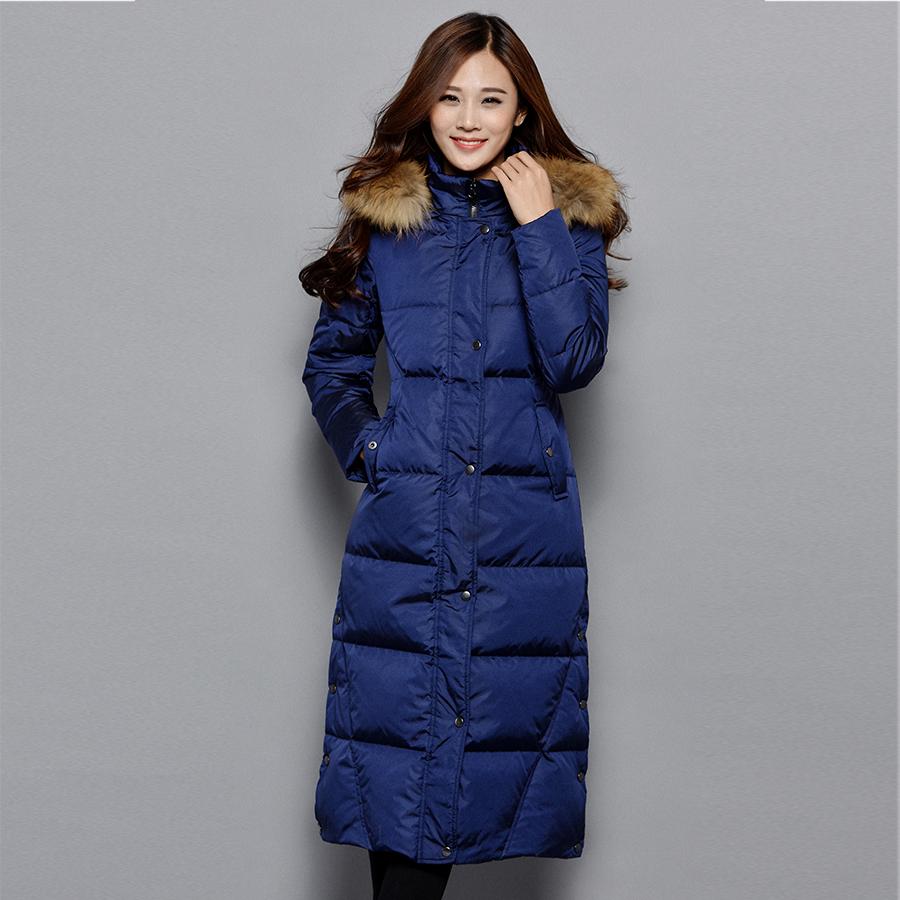 JIAJIAQIN white duck down long coat down jacket to keep warm font b winter b font