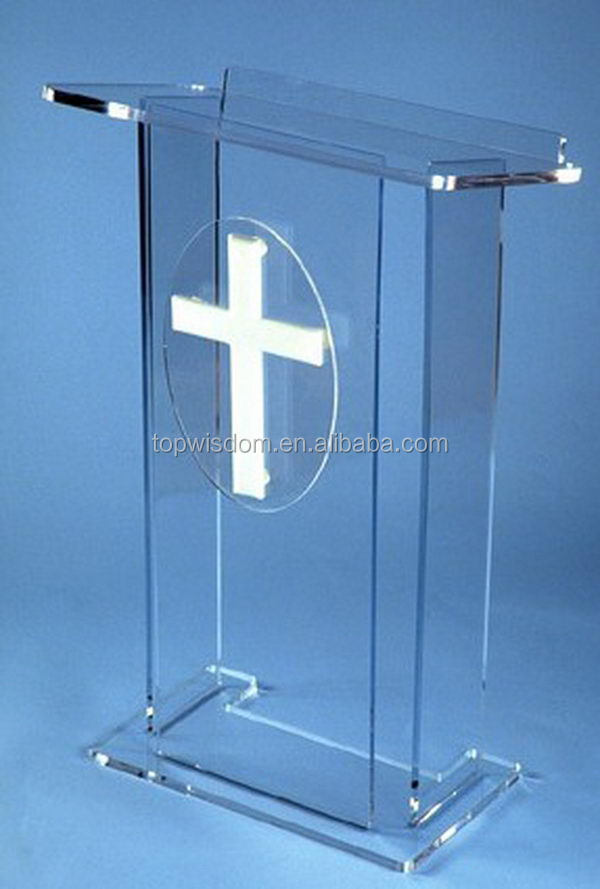 Best quality hot sale acrylic desk lectern