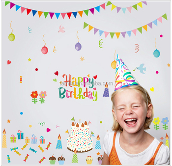 Hy Birthday Wall Decal Stickers For Kids Room Decoration Decor Large Decorative Printable