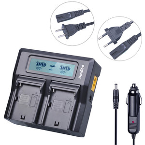 LCD Dual Fast Battery Charger for Sony NP F770 F750 F570 F550 F530 NP-F960 F950 F930 F970 FM500H NP-FM500H