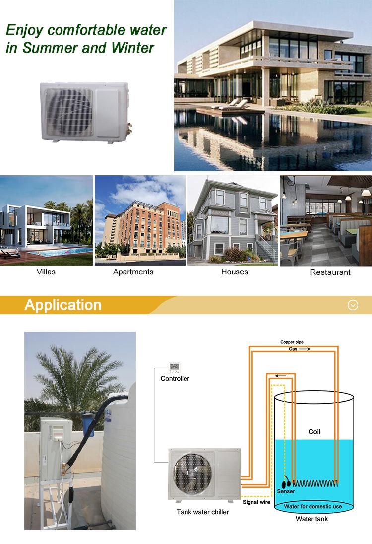 Altaqua 1 ton aqua tank chiller voor koud water