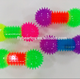 TPR massage spiky dumbbell ball flashing light up toys puffer toy