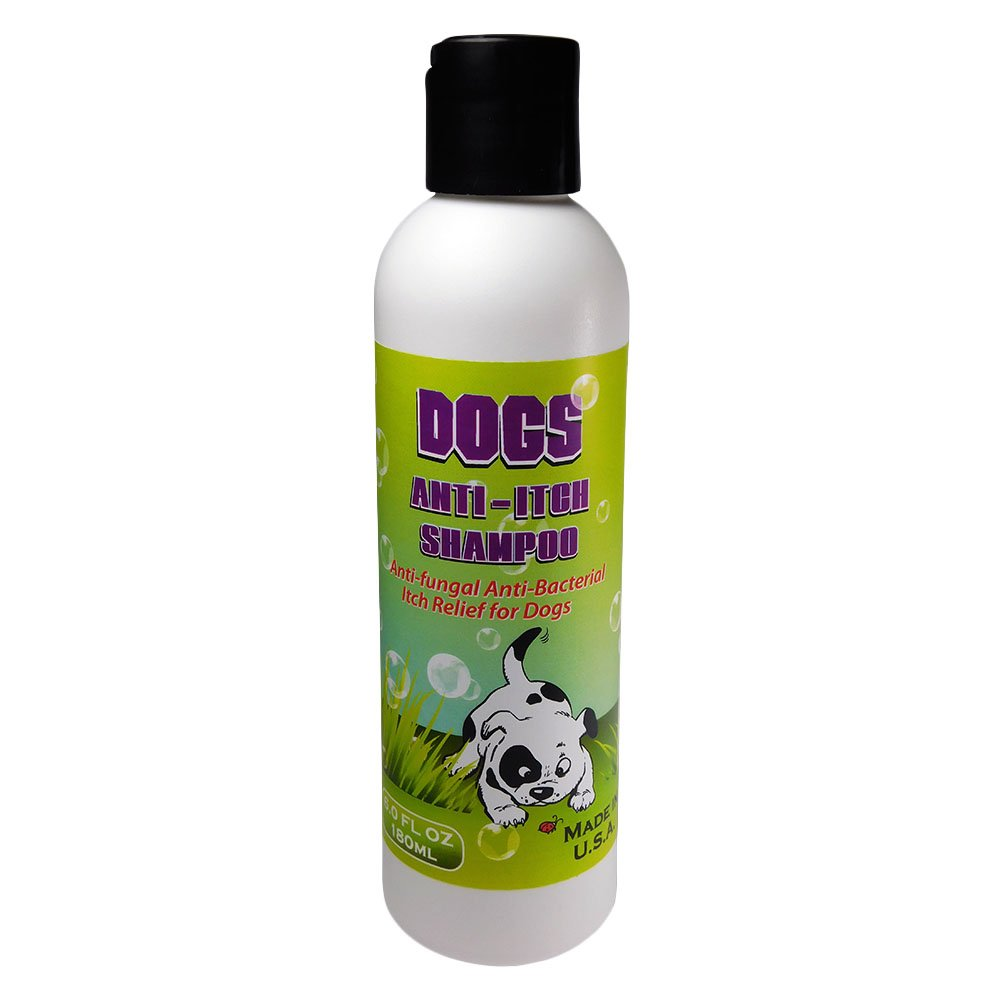 Dogs Medicated Itching Skin Relief Shampoo, Vet Recommended, Kills Mange Mites, Skin Parasites, Insects That Causes Itching Irritation. Cooling Soothing Itch Relief for Dogs Puppies 6.0 oz