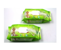 Custom printed plastic cleaning baby wipes packet