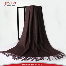 Factory solid color soft brushed scottish pashmina scarf cashmere scarf