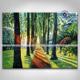 Handmade Landscape Tree Canvas Nature Scenery Painting