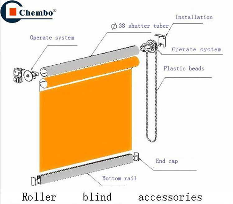 Electric Spring Roller Blind Parts For Home Window Blinds