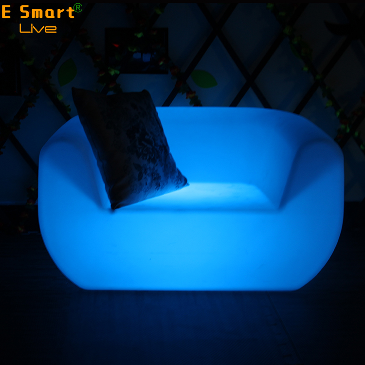 16 color change led bar light sofa,two seats section illuminated light up lounge sofa