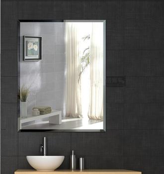 Simple And Design Beveled Edge Mirror Bathroom Wall Frameless 40x50 50x70 60x80 70x100 Cm