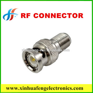 BNC male to F female connector rf