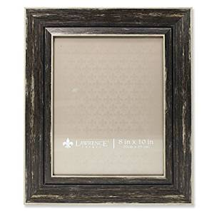 Lawrence Frames Weathered Decorative Picture Frame, 8 by 10-Inch, Black by Lawrence Frames