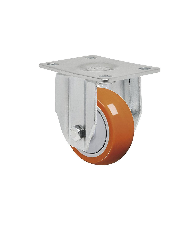 Non-Marking Polypropylene Precision Ball Bearing Wheel 150 lbs GLEFF 312 NPPE SL Schioppa L12 Series 10 mm Diameter x 40 mm Length Threaded Stem 3 x 1-1//4 Swivel Caster with Wheel Lock Brake