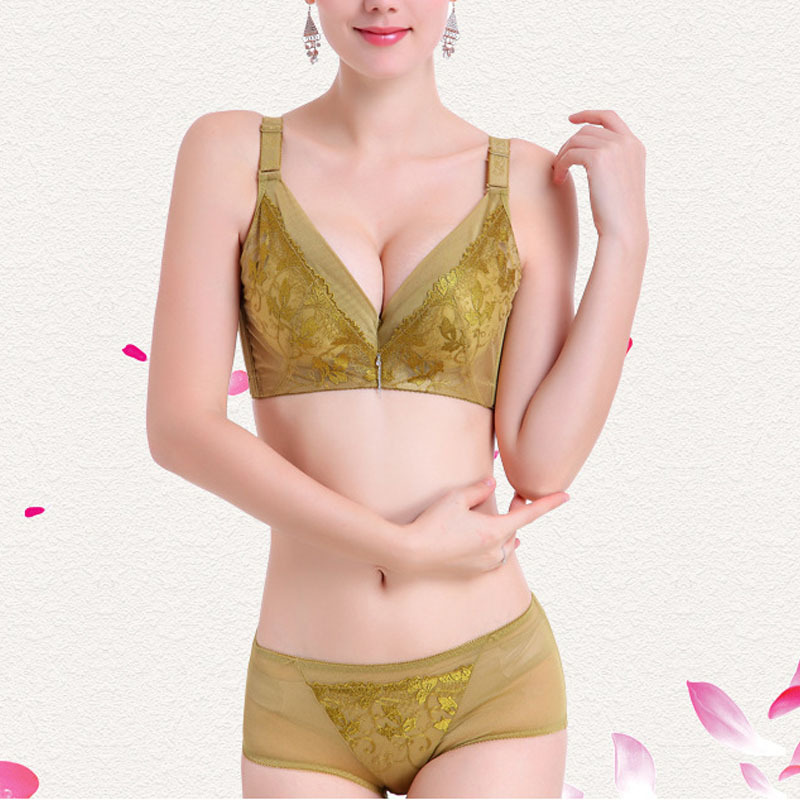 e48c24a43d3d3 Get Quotations · Green Color Women Bra Set Sexy Lady Girl Bras Briefs Pants  Shorst Thin Cup 32-
