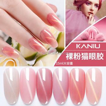 Kaniu Brand Cat Eye Magnetic Nail Polish Pink Series UV/LED Nail Gel ...
