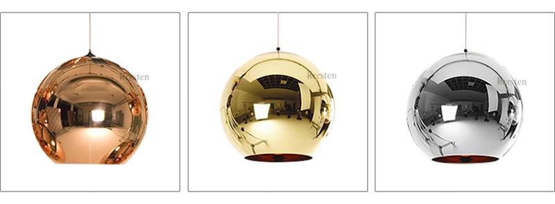 Horstent Nordic Home globe glass pendant lamp silver gold copper color dinning room living room light home decoration lighting (1)