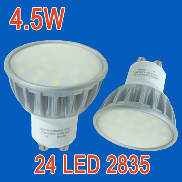 warm cool white 4.5W ac85-265v constant current SMD high power GU10 led spot bulb lamp