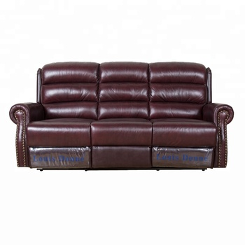 Fabulous Best Sale Copper Nails Brown Classic Recliner Leather Sofa View Copper Nail Sofa Louis Donne Product Details From Shenzhen Dayer Home Furnishing Machost Co Dining Chair Design Ideas Machostcouk