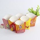 Disposable Gloss Varnish Paper Chips French Fries Packaging Box