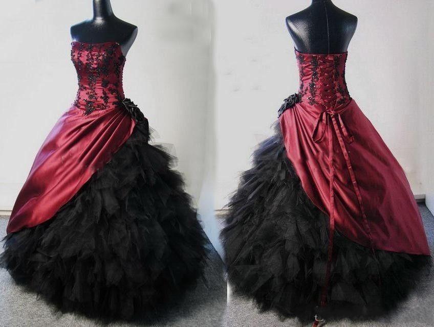 Cheap Black N White Wedding Dresses: Achetez En Gros Gothique Robe De Mariée En Ligne à Des