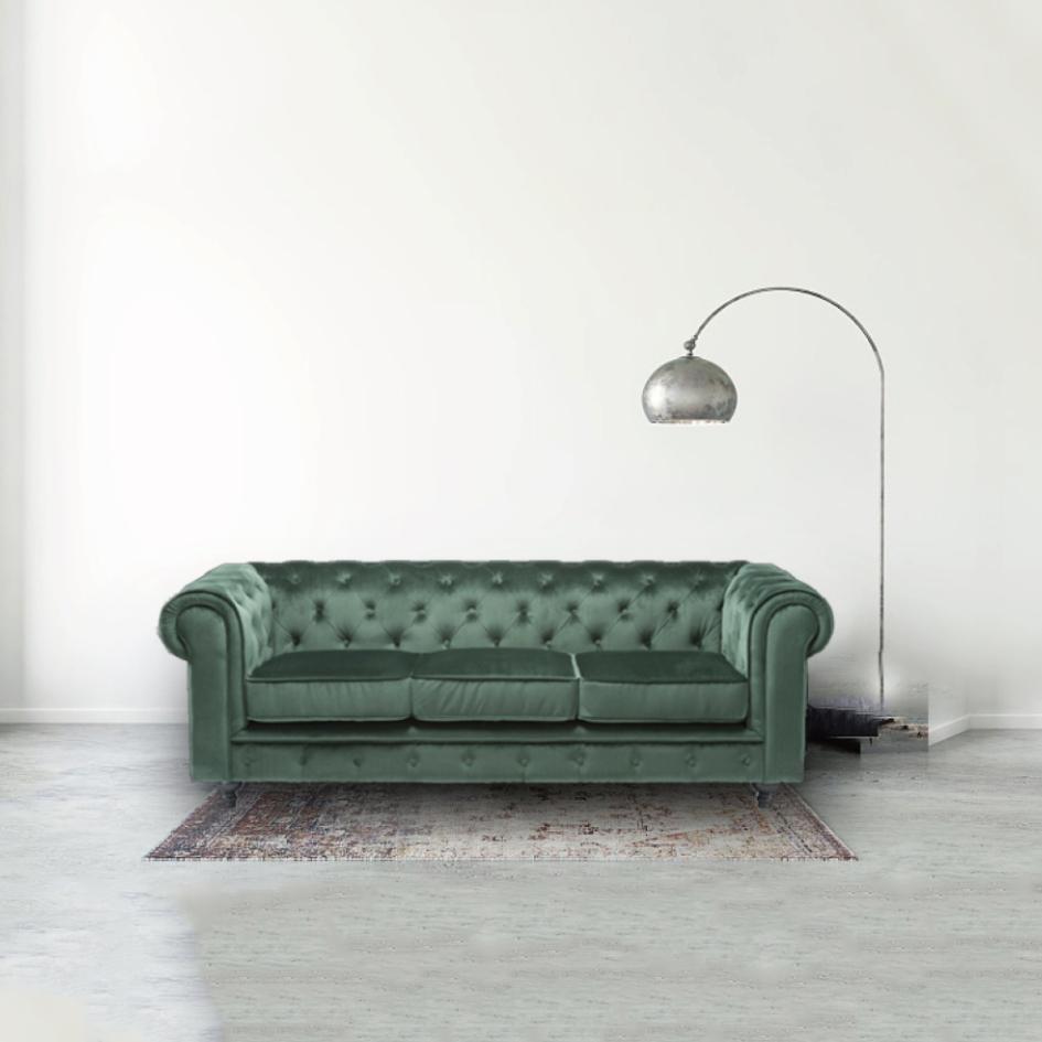 Бархат Честерфилд диван 3 места, высокое качество Честерфилд диван, мебель для гостиной бархатный диван