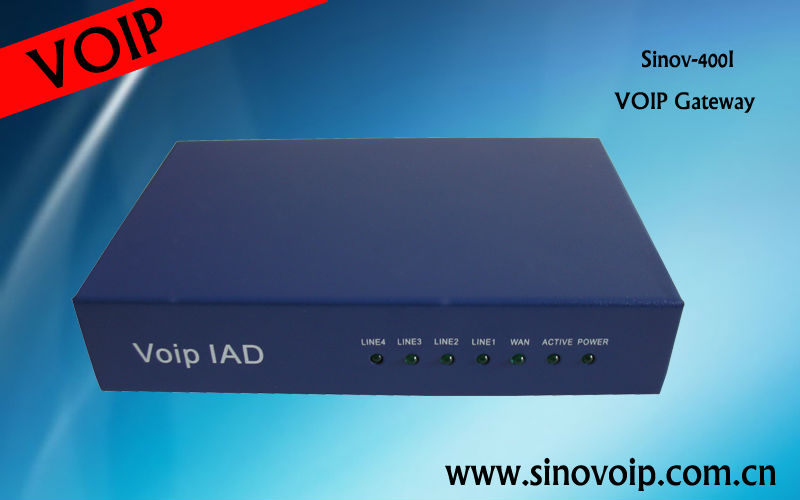 4 FXS port VoIP gateway / IAD / ATA / IP phone