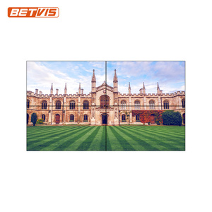 seamless 46 / 49 / 55 inch video wall display solutions for indoor and outdoor advertising
